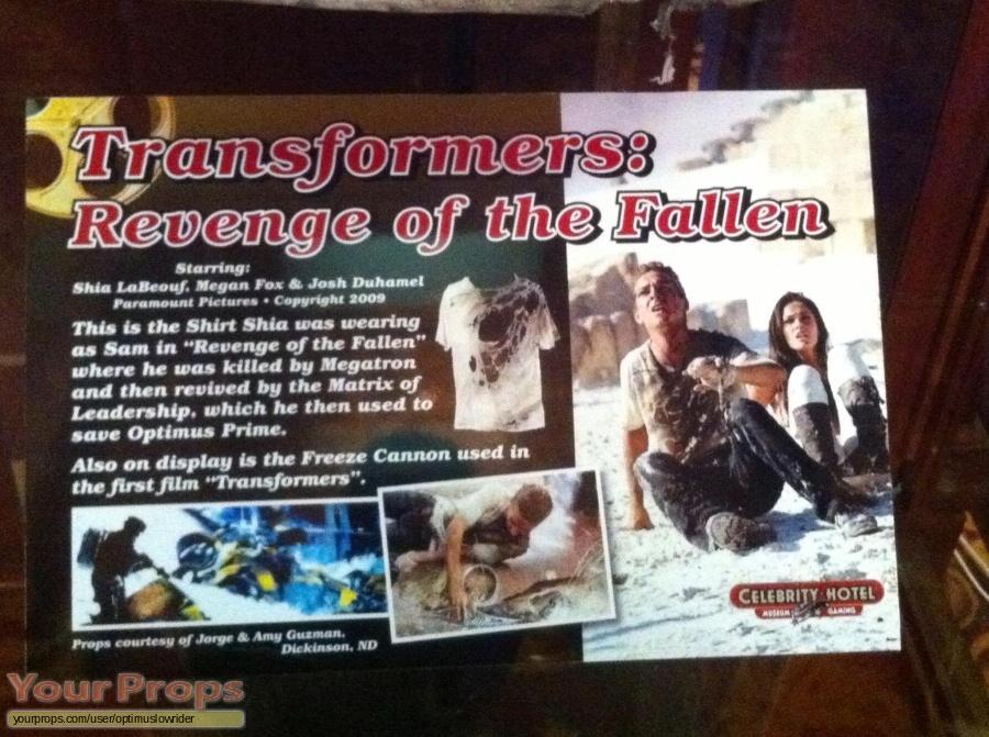 Transformers  Revenge of the Fallen original movie costume