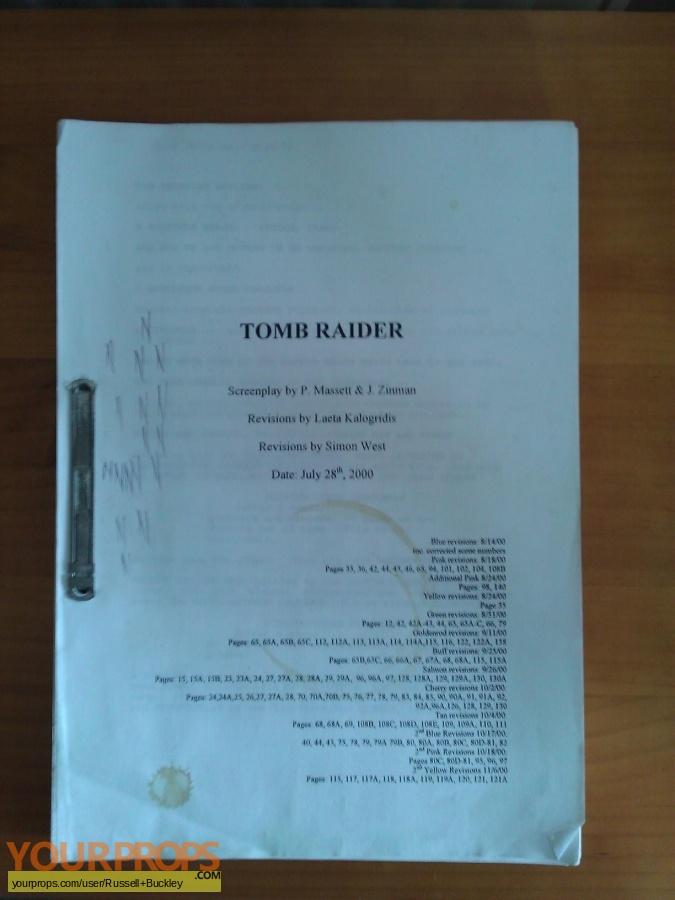 Lara Croft  Tomb Raider original production material