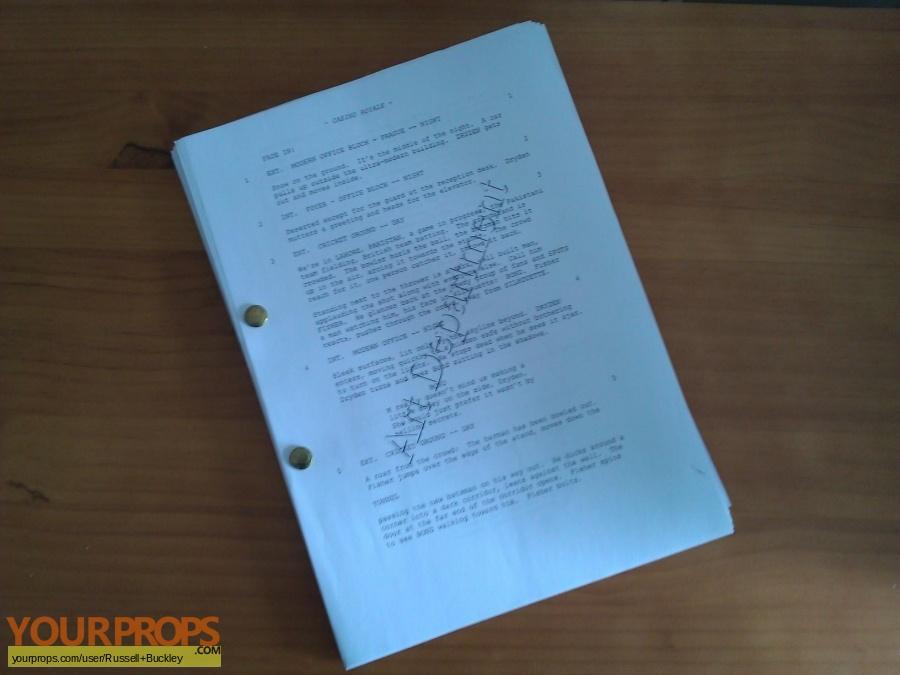 Casino royale original script allegro grand casino kursaal bern