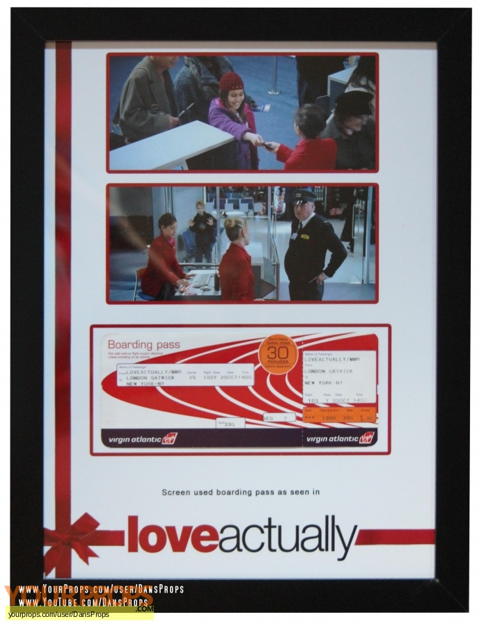 Love Actually original movie prop