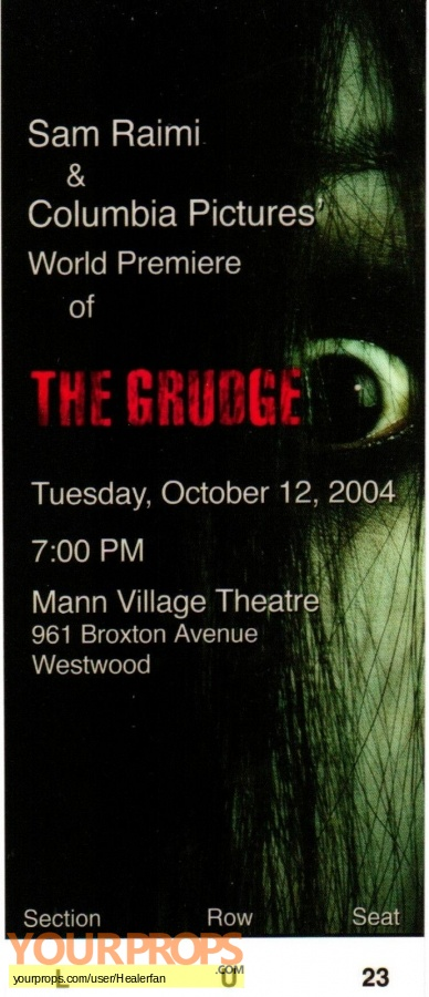 The Grudge original production material