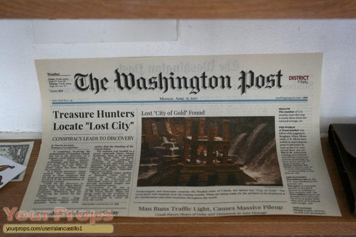 National Treasure 2  Book of Secrets replica movie prop