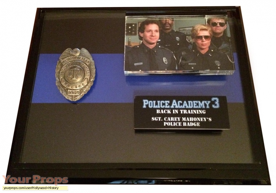 Police Academy 3  Back in Training original movie prop
