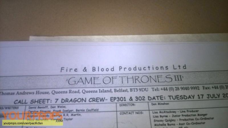 Game of Thrones swatch   fragment production material