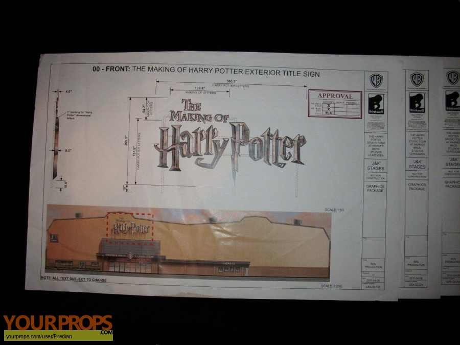Harry Potter movies original production material