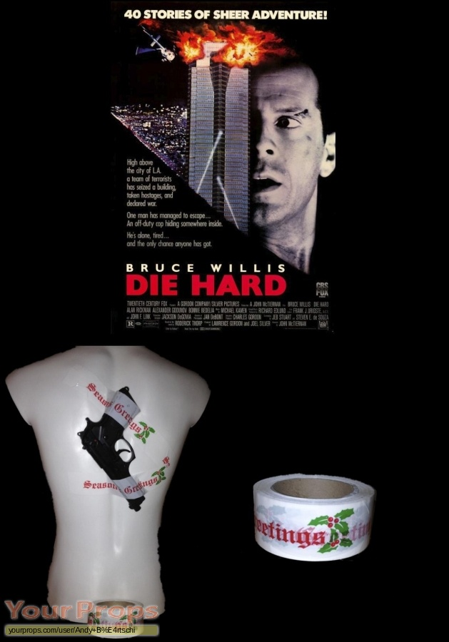 Die Hard original movie prop