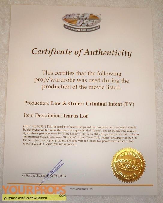 Law   Order  Criminal Intent original production material