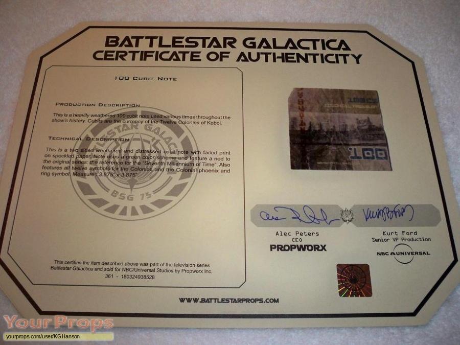 Battlestar Galactica original movie prop