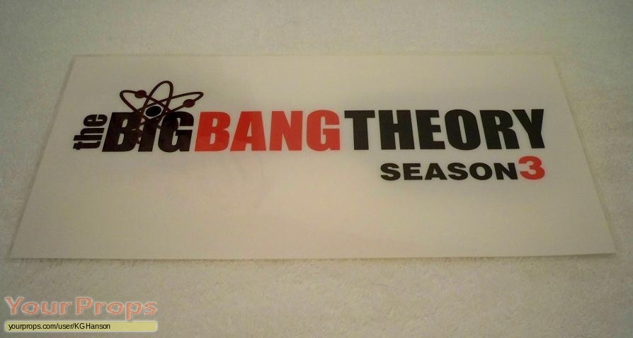 The Big Bang Theory original film-crew items