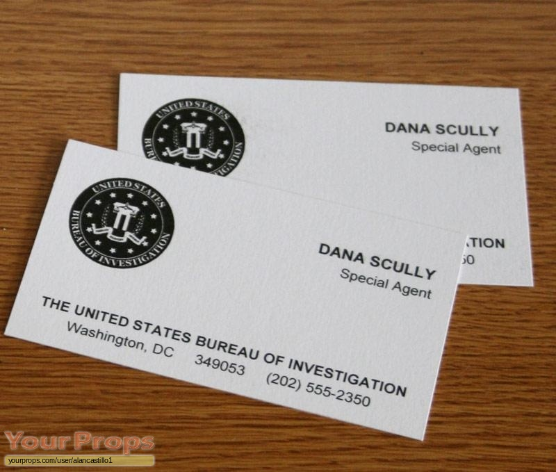 The x files dana scully fbi business cards replica tv series prop the x files replica movie prop dana scully fbi business cards colourmoves
