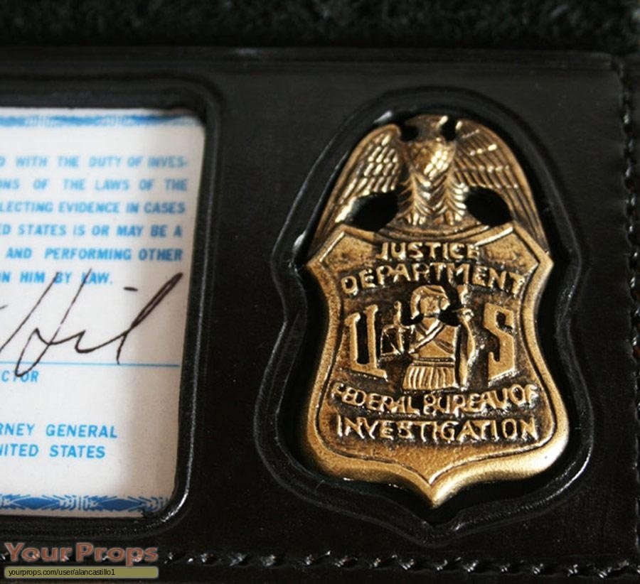 The X Files Fox Mulder Fbi Id Wallet Badge Replica Tv