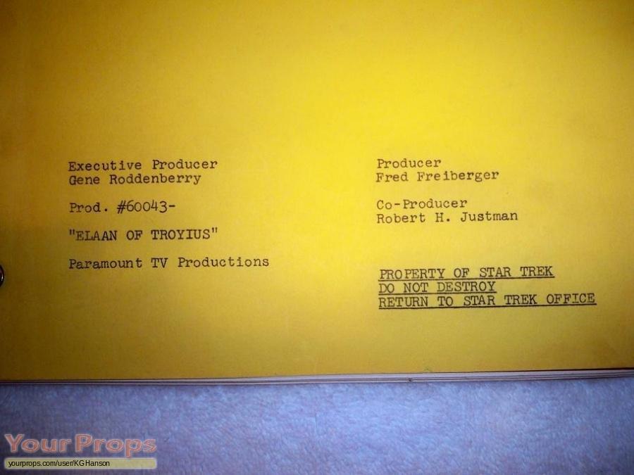 Star Trek  The Original Series original production material