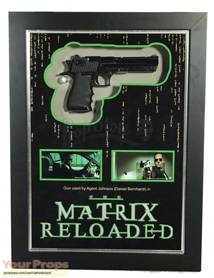 The Matrix Reloaded   Revolutions original movie prop