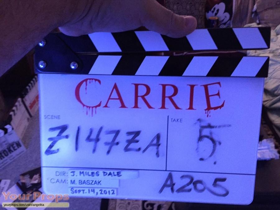 Carrie original film-crew items