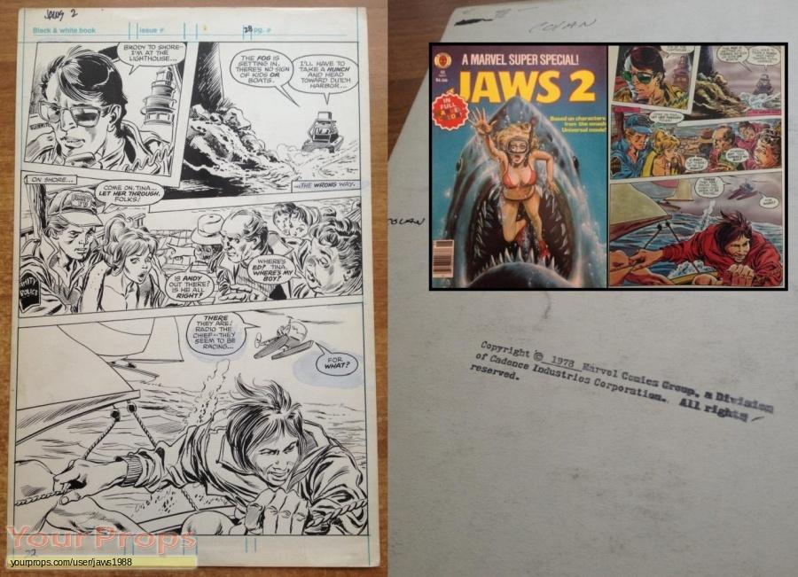 Jaws 2 original production artwork