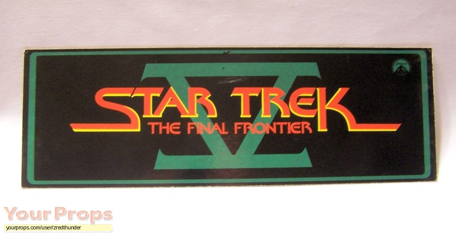 Star Trek V  The Final Frontier original film-crew items