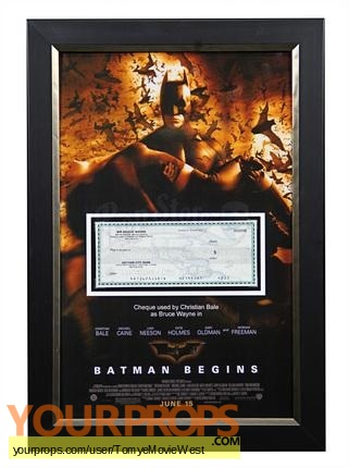 Batman Begins original movie prop