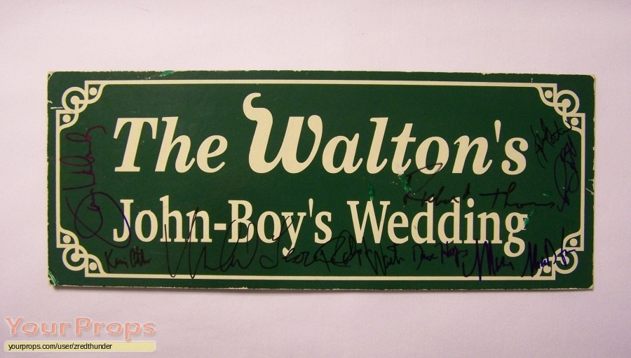 A Walton Wedding original film-crew items