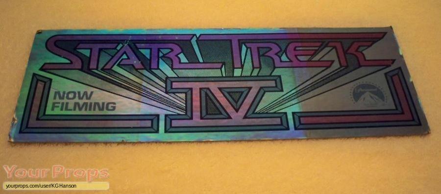 Star Trek IV  The Voyage Home original film-crew items