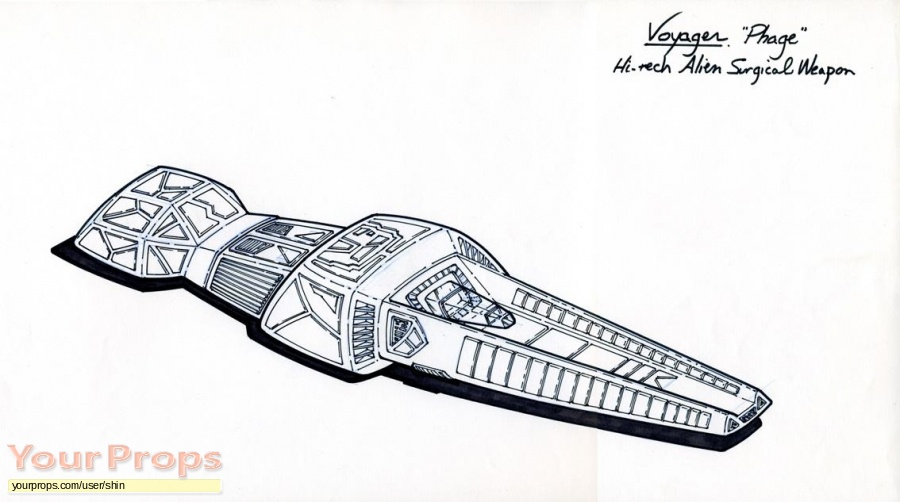 Star Trek  Voyager original production artwork