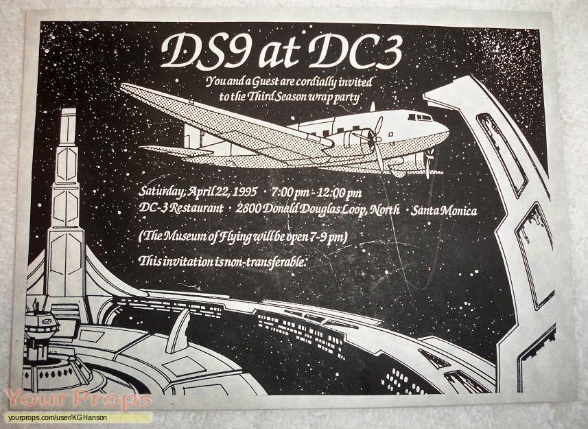 Star Trek  Deep Space Nine original film-crew items