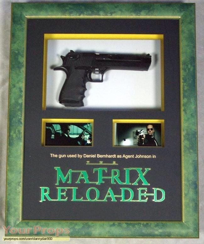351a032eea The Matrix Reloaded Revolutions original movie prop. Gun used by agent  Johnson ...