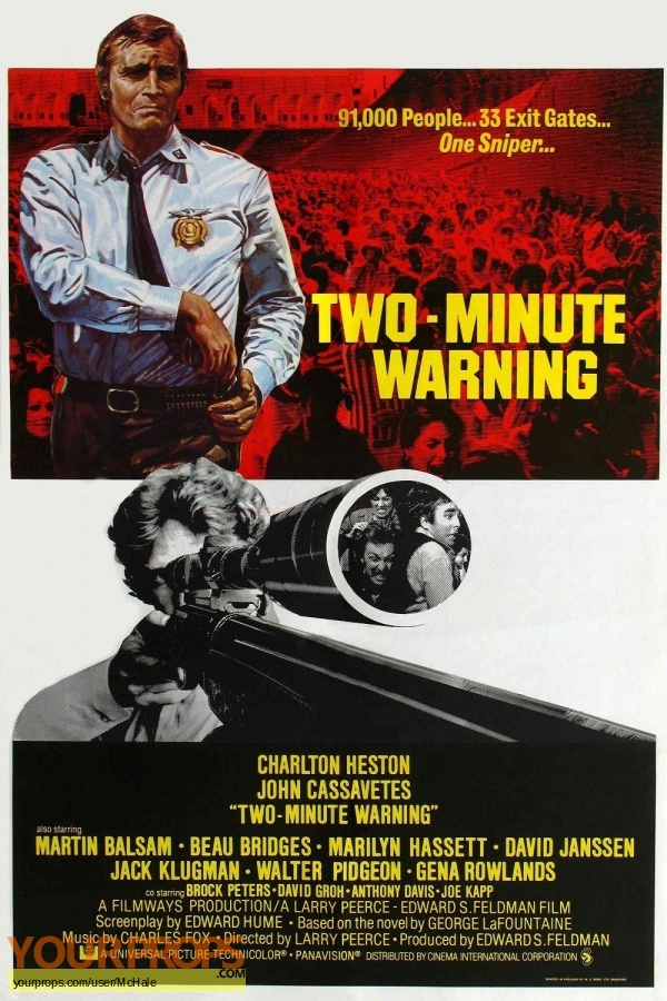 Two-Minute Warning replica movie prop
