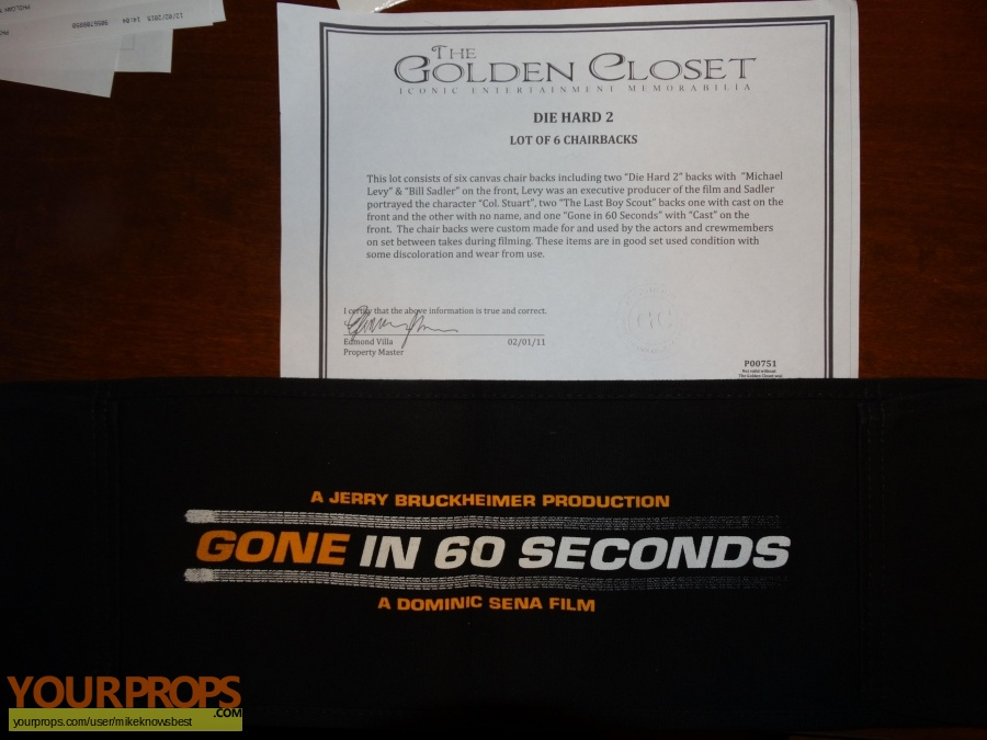 Gone in 60 Seconds original production material