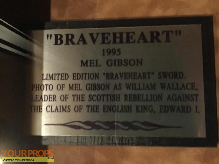 Braveheart replica movie prop weapon