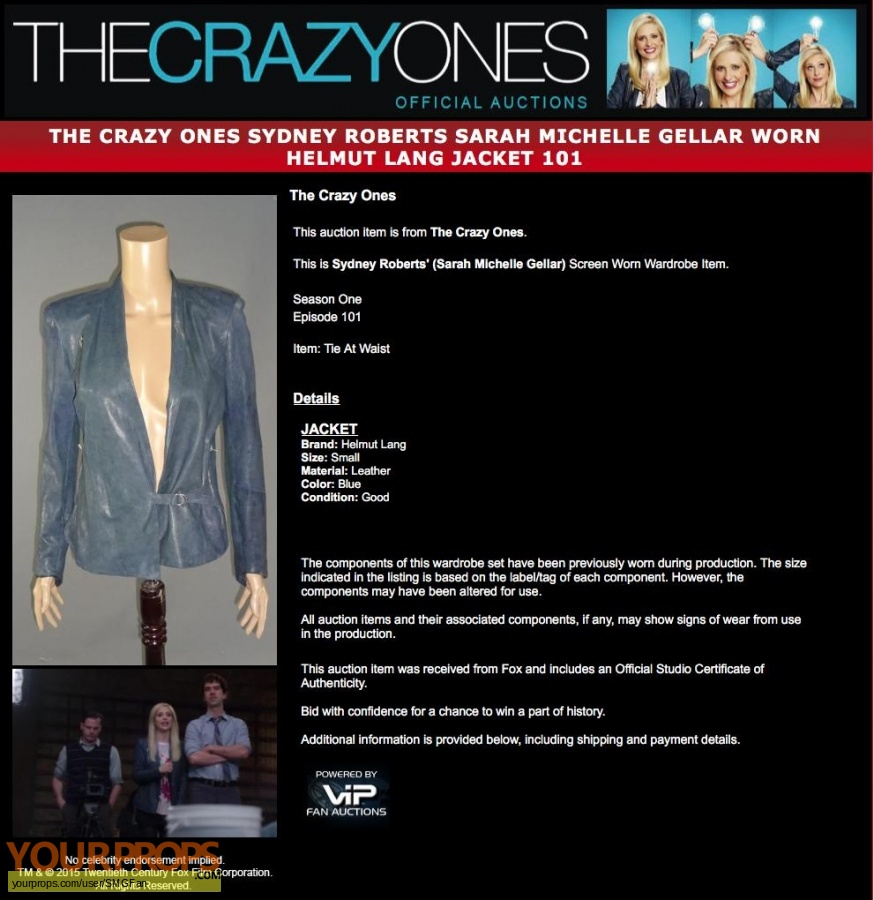 The Crazy Ones original movie costume