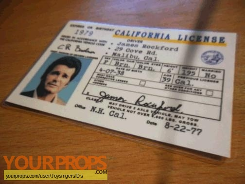 The Rockford Files replica movie prop