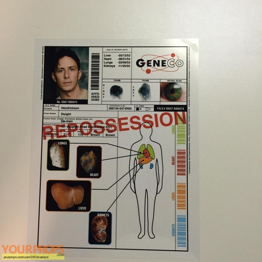 Repo  The Genetic Opera replica movie prop