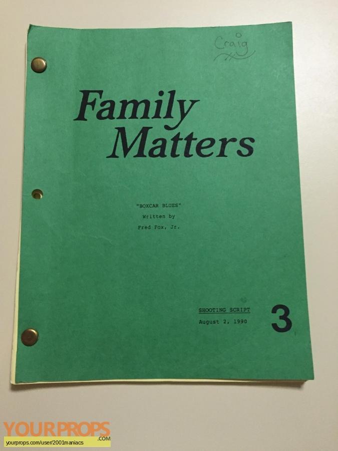Family Matters original production material
