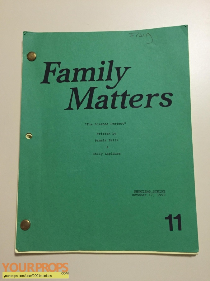 Family Matters original production material