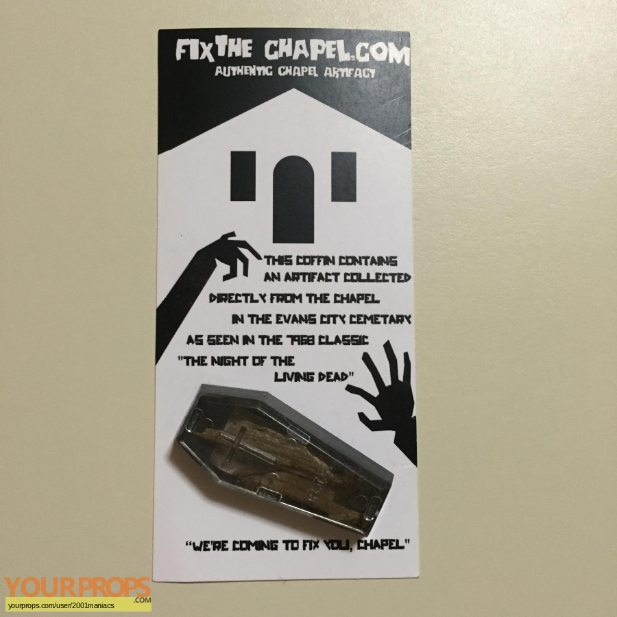 Night of the Living Dead original movie prop