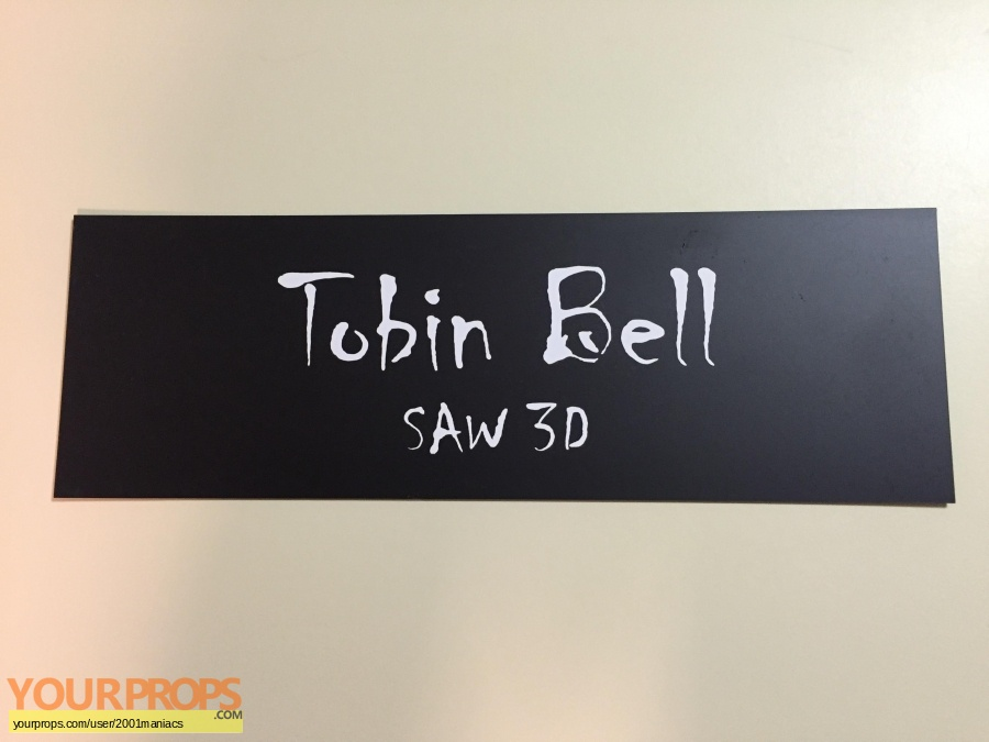 Saw 3D original production material
