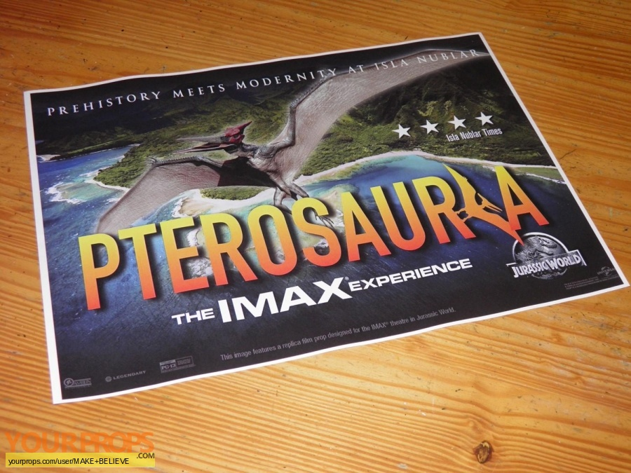 Jurassic World replica movie prop