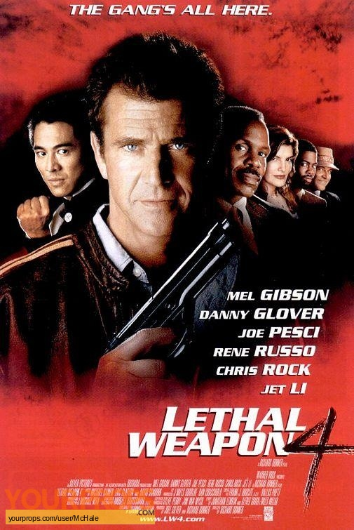 Lethal Weapon 4 replica movie prop