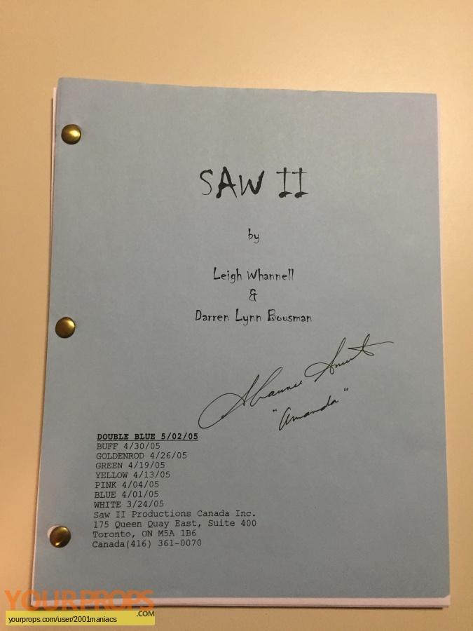 Saw II original production material
