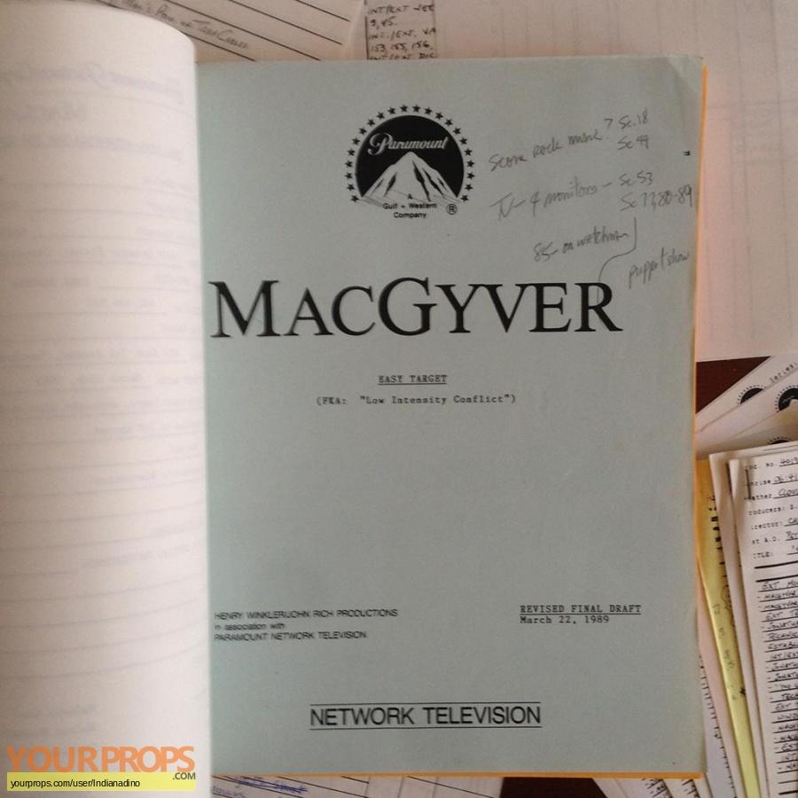 MacGyver original production material