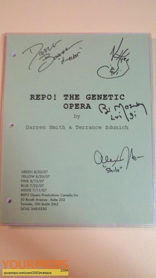 Repo  The Genetic Opera original production material