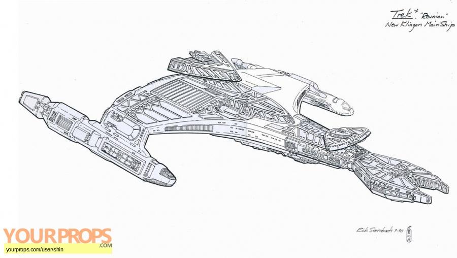 Star Trek  The Next Generation original production artwork