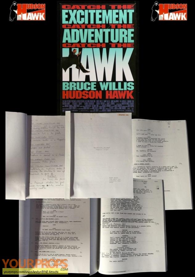 Hudson Hawk original production material