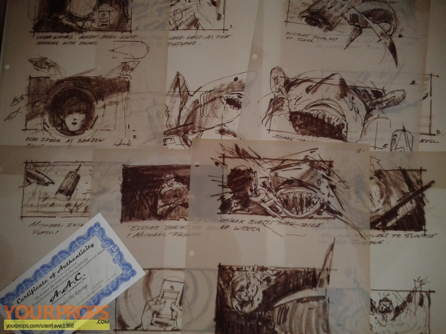 Jaws  The Revenge Master Replicas production artwork