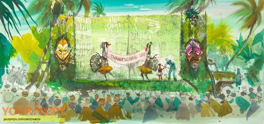 South Pacific original production artwork