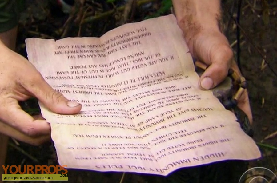 Survivor Cagayan original movie prop
