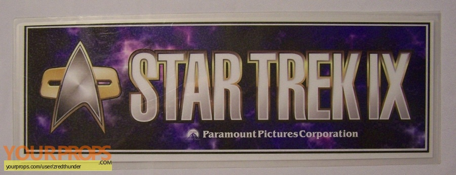 Star Trek  Insurrection original film-crew items