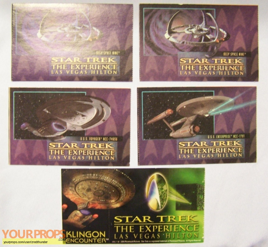 Star Trek the Experience  The Klingon Encounter original production material