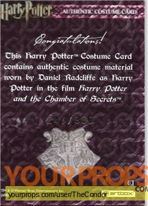 Harry Potter and the Chamber of Secrets swatch   fragment movie costume