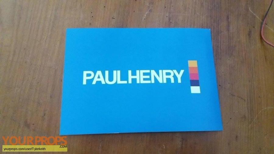 Paul Henry original movie prop